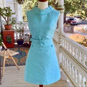 Vintage 60's i.MAGNIN Shantung Silk Cocktail Dress